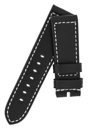 Panerai-Style Marino Leather Watch Strap in BLACK