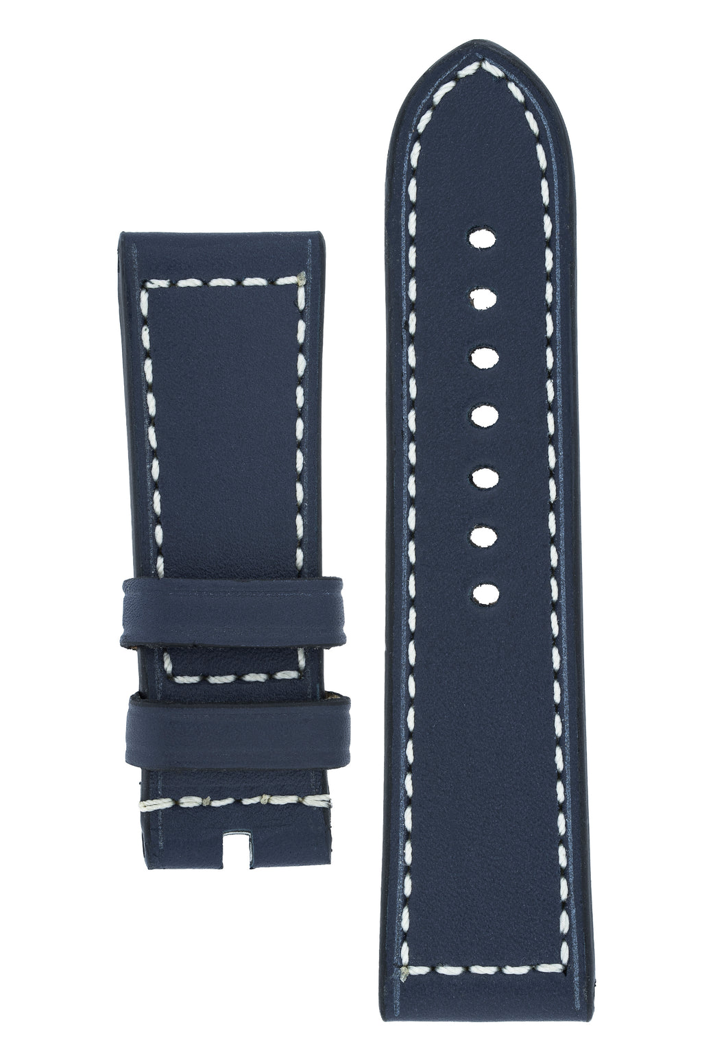 Panerai-Style Marino Leather Watch Strap in BLUE