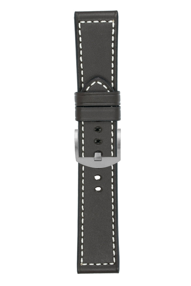 Panerai-Style Marino Leather Watch Strap in BROWN