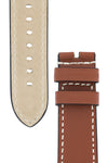 Panerai Style Marino Leather Watch Strap in GOLD BROWN