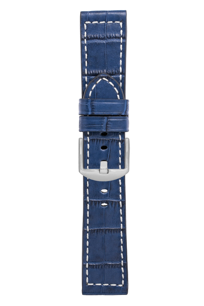Load image into Gallery viewer, Panerai-Style Marino Alligator Embossed Watch Strap in BLUE