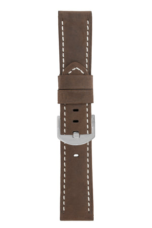 Panerai-Style Vertigo Buffalo Suede Watch Strap in BROWN