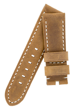 Load image into Gallery viewer, Panerai-Style Vertigo Buffalo Suede Watch Strap in GOLD BROWN