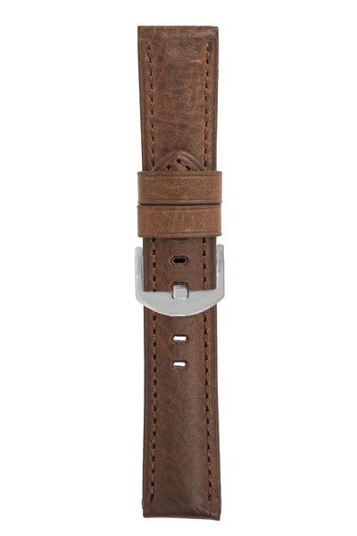 Panerai-Style Vintage Leather Watch Strap in BROWN