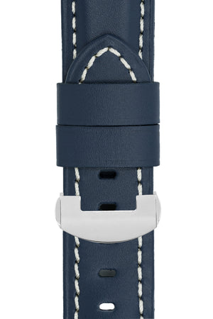 Panerai Style Calf Deployment Watch Strap in BLUE