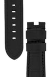 Panerai-Style Alligator-Embossed Deployment Watch Strap in BLACK / BLACK