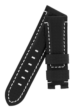 Panerai Style Carbon Deployment Watch Strap in BLACK
