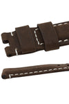 Panerai-Style Vertigo Buffalo Suede Deployment Watch Strap in BROWN