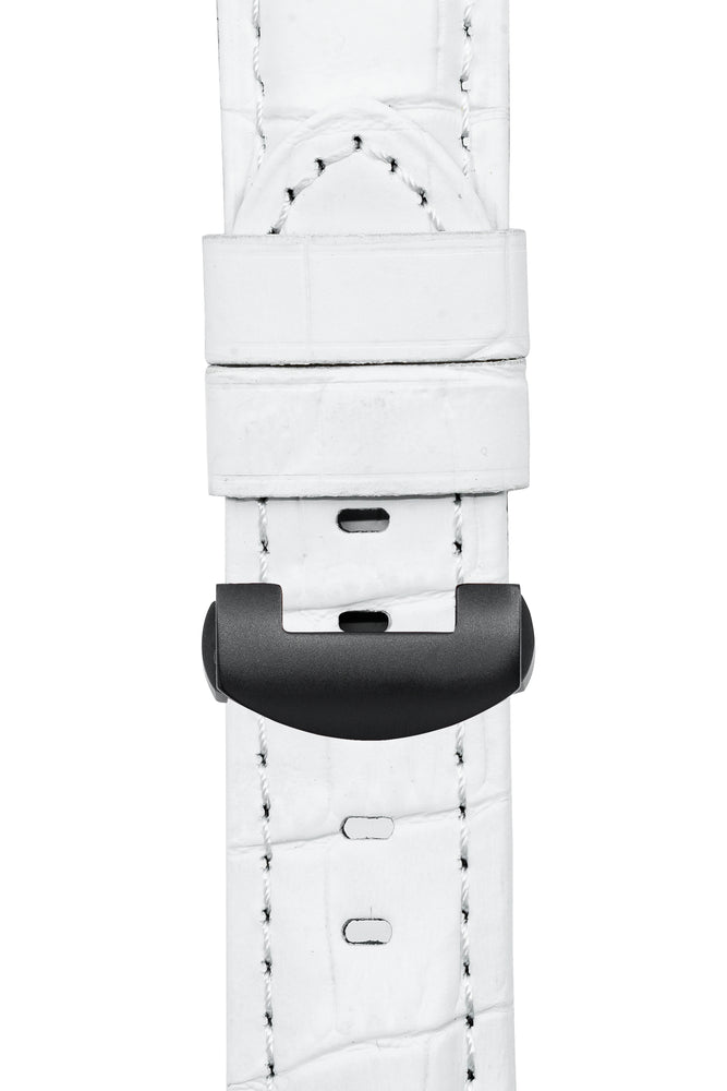 Load image into Gallery viewer, Panerai-Style Alligator-Embossed Deployment Watch Strap in WHITE