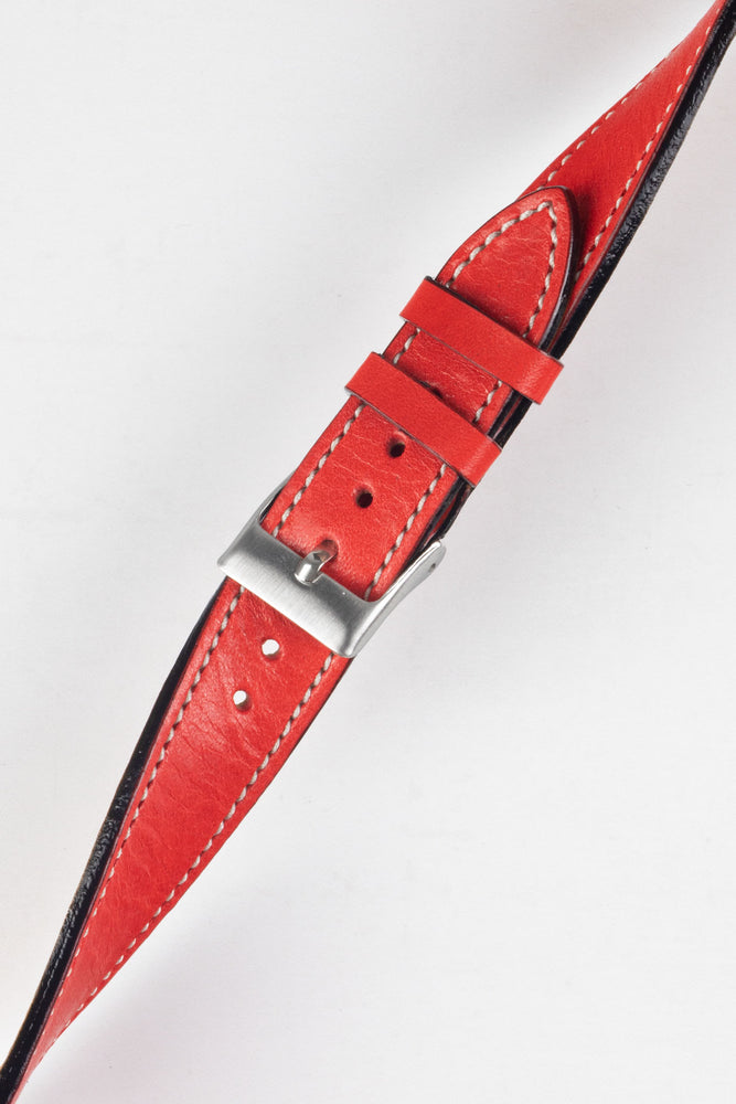 Pebro VIBRANT Genuine Leather Watch Strap in RED