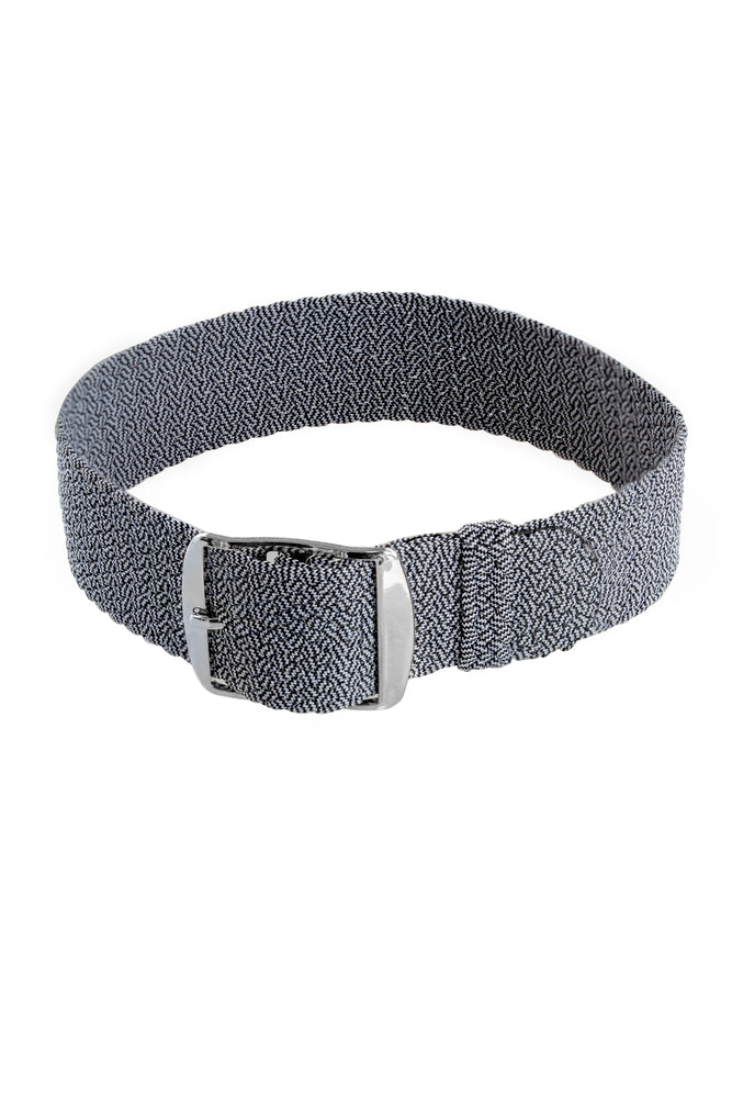 Load image into Gallery viewer, MELANGE PERLON Braided Watch Strap & Buckle in MOONLIGHT GREY