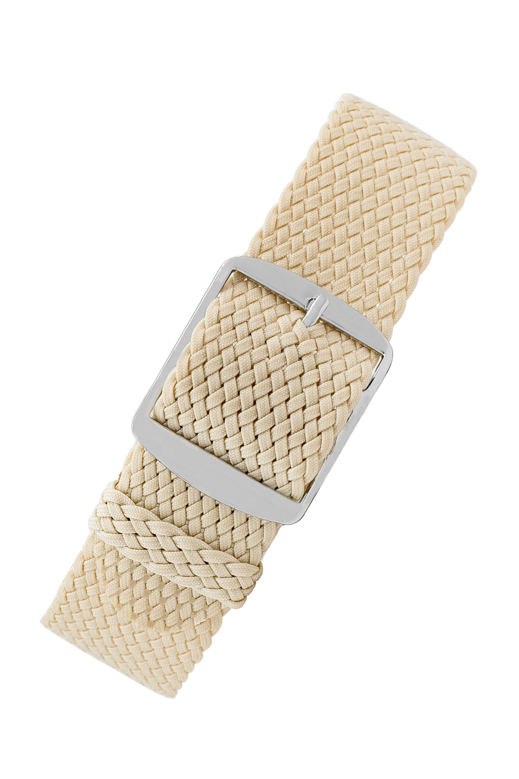 Perlon Braided One Piece Watch Strap & Buckle in BEIGE
