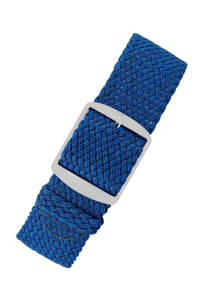 PERLON Braided One Piece Watch Strap & Buckle in BLUE
