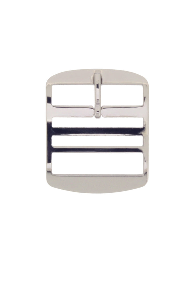 PERLON Buckle in POLISHED SILVER