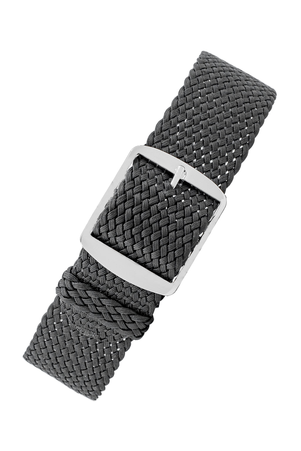 Perlon Braided One Piece Watch Strap & Buckle in DARK GREY