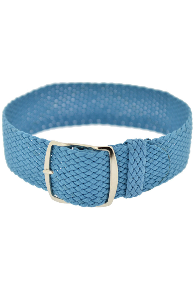 Perlon Braided One Piece Watch Strap & Buckle in LIGHT BLUE