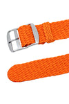 PERLON Braided One Piece Watch Strap & Buckle in ORANGE