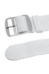 PERLON Braided One Piece Watch Strap & Buckle in WHITE