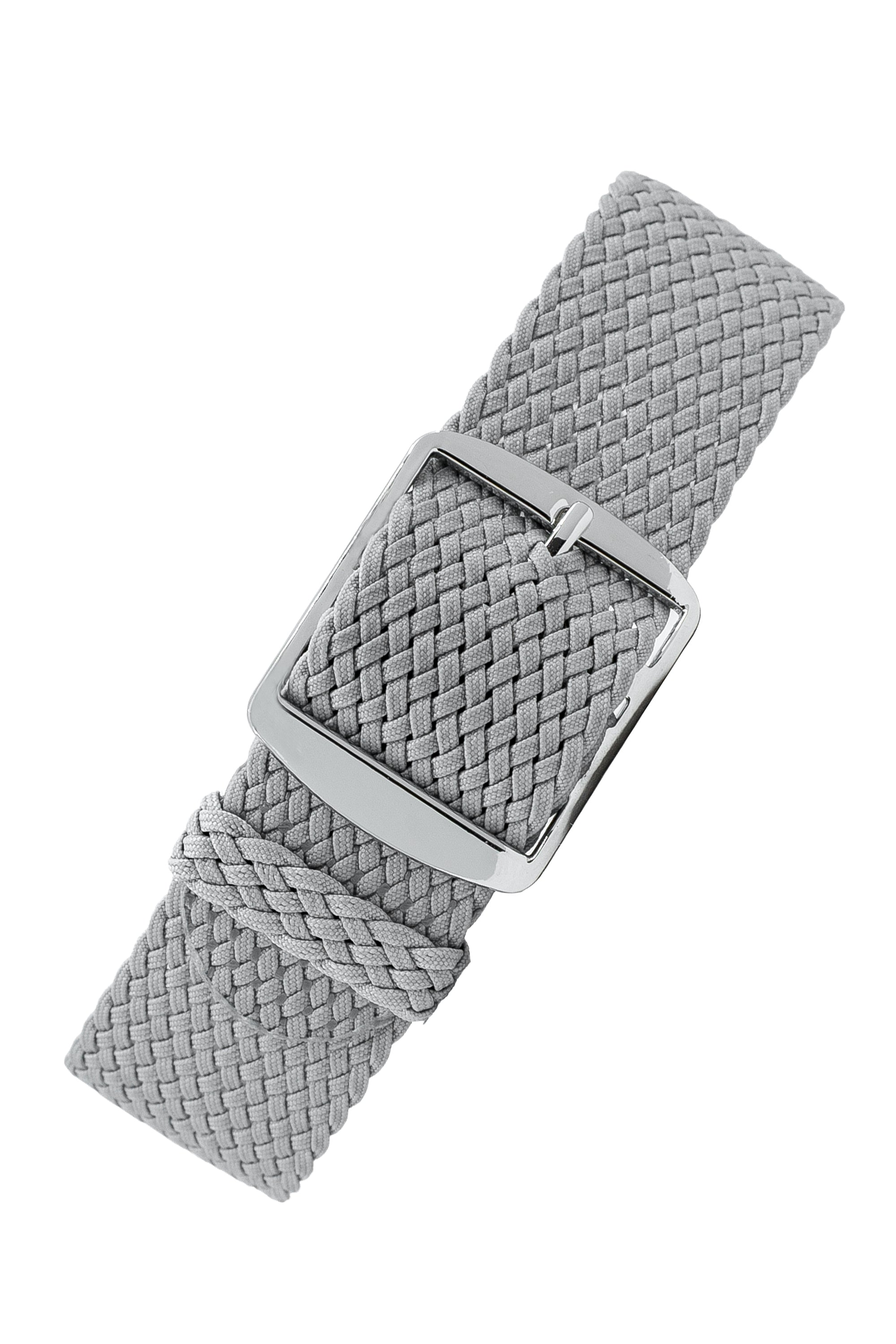 PERLON Braided One Piece Watch Strap & Buckle in GREY