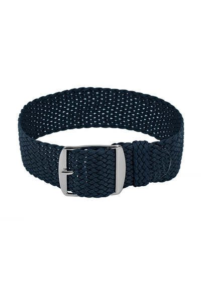 PERLON Braided One Piece Watch Strap & Buckle in DARK BLUE