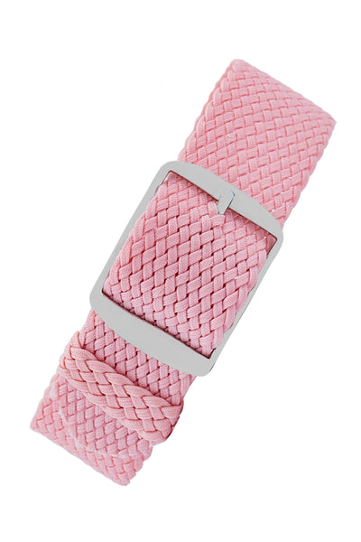 PERLON Braided One Piece Watch Strap & Buckle in ROSA PINK
