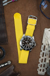 PERLON Braided One Piece Watch Strap & Buckle in YELLOW