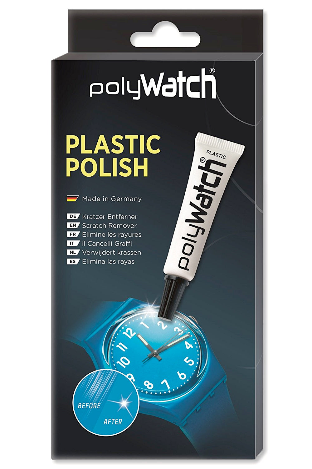 POLYWATCH Polish Scratch Remover For Plastic Watch Crystals