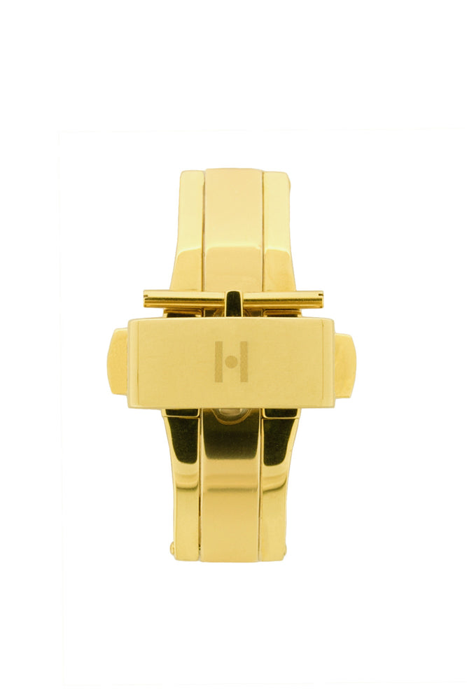 Hirsch PUSHER Deployment Clasp in GOLD