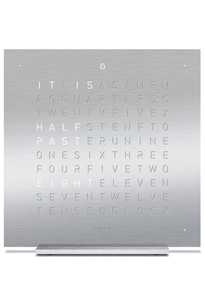 QLOCKTWO TOUCH Aluminium Desk Clock with FULL METAL Steel Faceplate