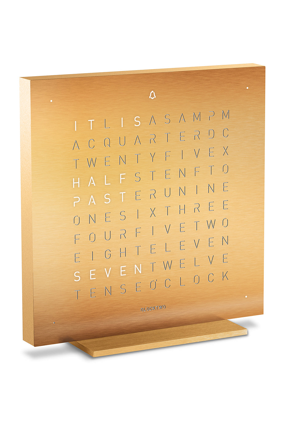 QLOCKTWO TOUCH Creator's Edition Aluminium Desk Clock with GOLDEN LEGEND Faceplate