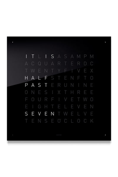 QLOCKTWO Wall Clock with BLACK ICE TEA Acrylic Faceplate
