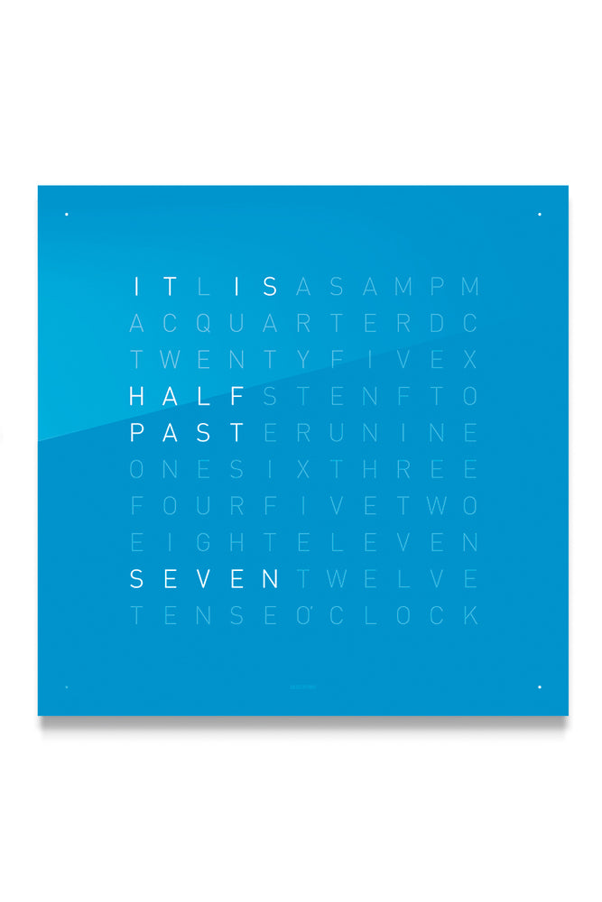 Load image into Gallery viewer, QLOCKTWO Wall Clock with BLUE CANDY Acrylic Faceplate