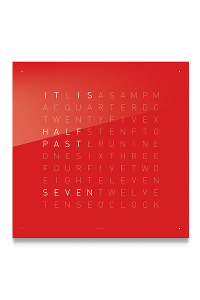 QLOCKTWO Wall Clock with CHERRY CAKE Acrylic Faceplate