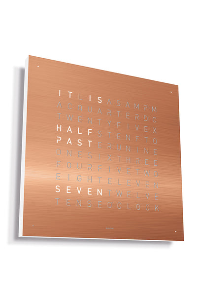 QLOCKTWO Wall Clock with COPPER Stainless Steel Faceplate