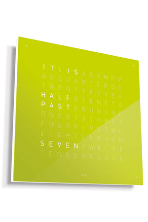 QLOCKTWO Wall Clock with LIME JUICE Acrylic Faceplate