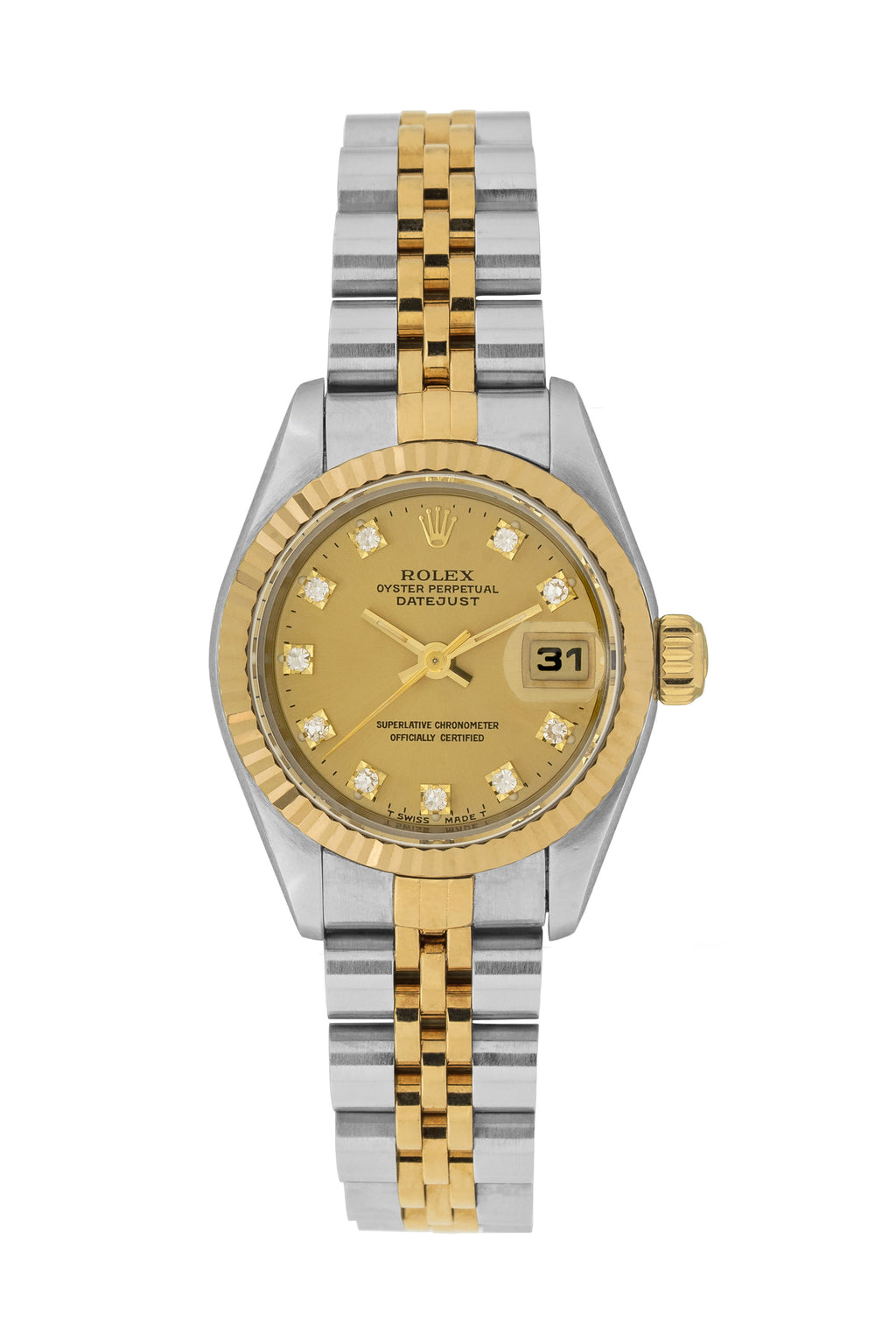 ROLEX DateJust 69173 Ladies Automatic Bi Metal Watch - Diamond Dot Dial
