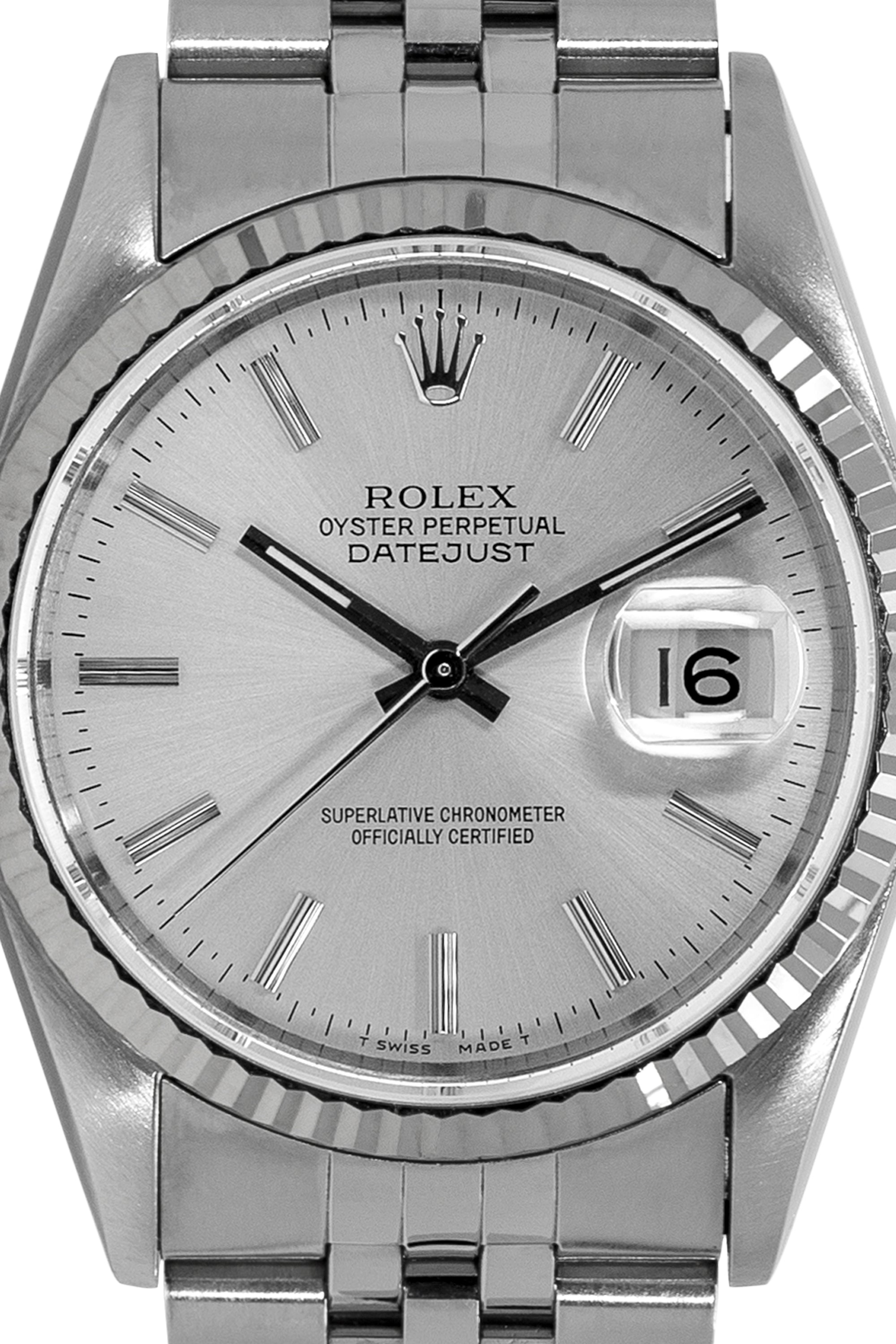 0b8102931e8f3 ROLEX Datejust 16234 Stainless Steel Watch – Silver Dial ...