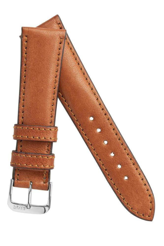 Rios1931 GARMISCH Organic Leather Watch Strap in COGNAC