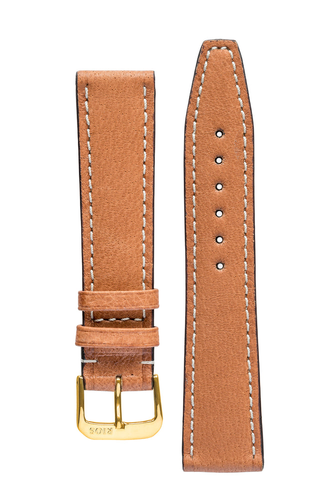 Load image into Gallery viewer, Rios1931 HAVANA Genuine Pigskin Leather Watch Strap in COGNAC