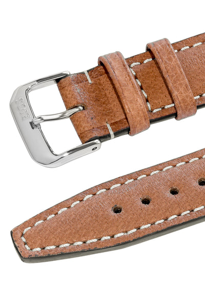 Rios1931 HAVANA Genuine Pigskin Leather Watch Strap in COGNAC