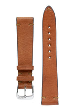 Rios1931 MITTENWALD Retro Organic Leather Watch Strap in COGNAC