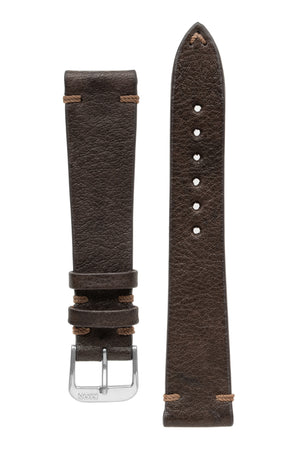Rios1931 MITTENWALD Retro Organic Leather Watch Strap in MOCHA