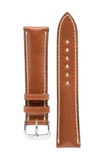 Rios1931 NEW YORK Shell Cordovan Leather Watch Strap in COGNAC