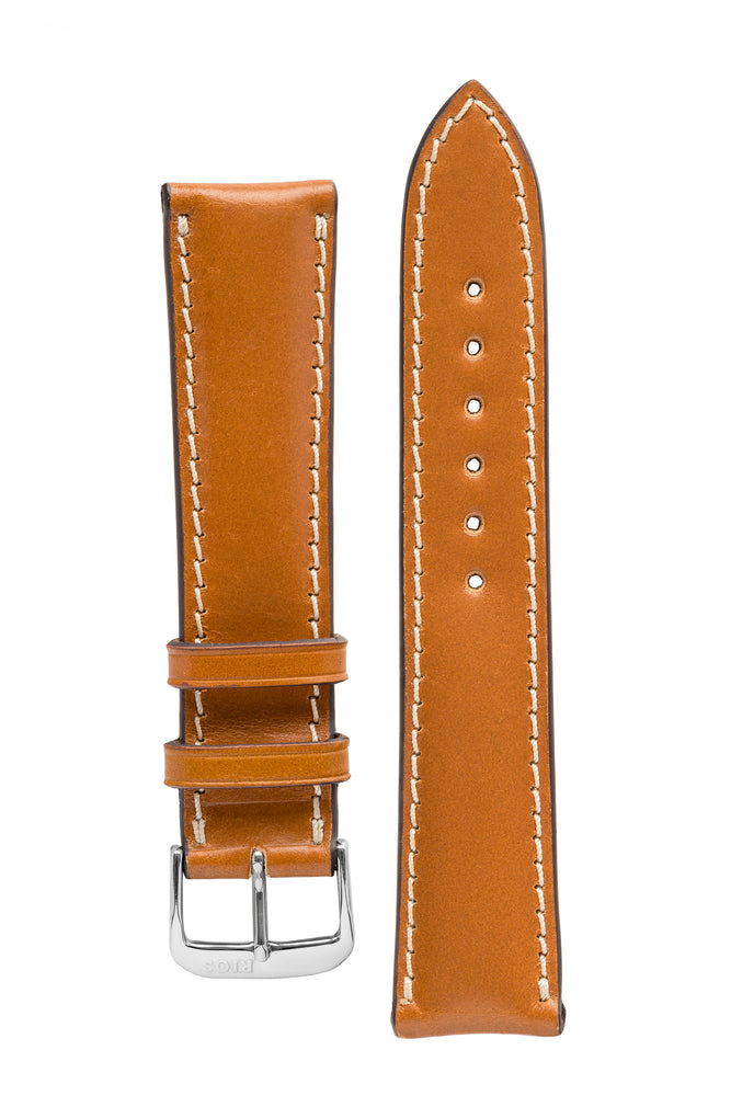 Rios1931 NEW YORK Shell Cordovan Leather Watch Strap in HONEY