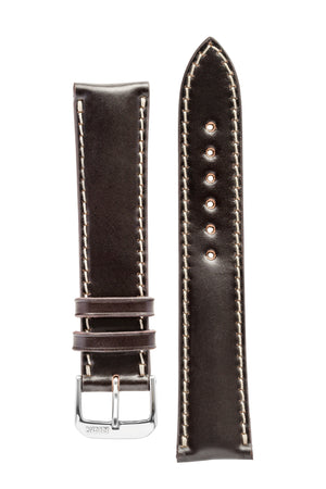 Rios1931 NEW YORK Shell Cordovan Leather Watch Strap in MOCHA