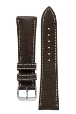 Rios1931 WEILHEIM Organic Leather Watch Strap in MOCHA