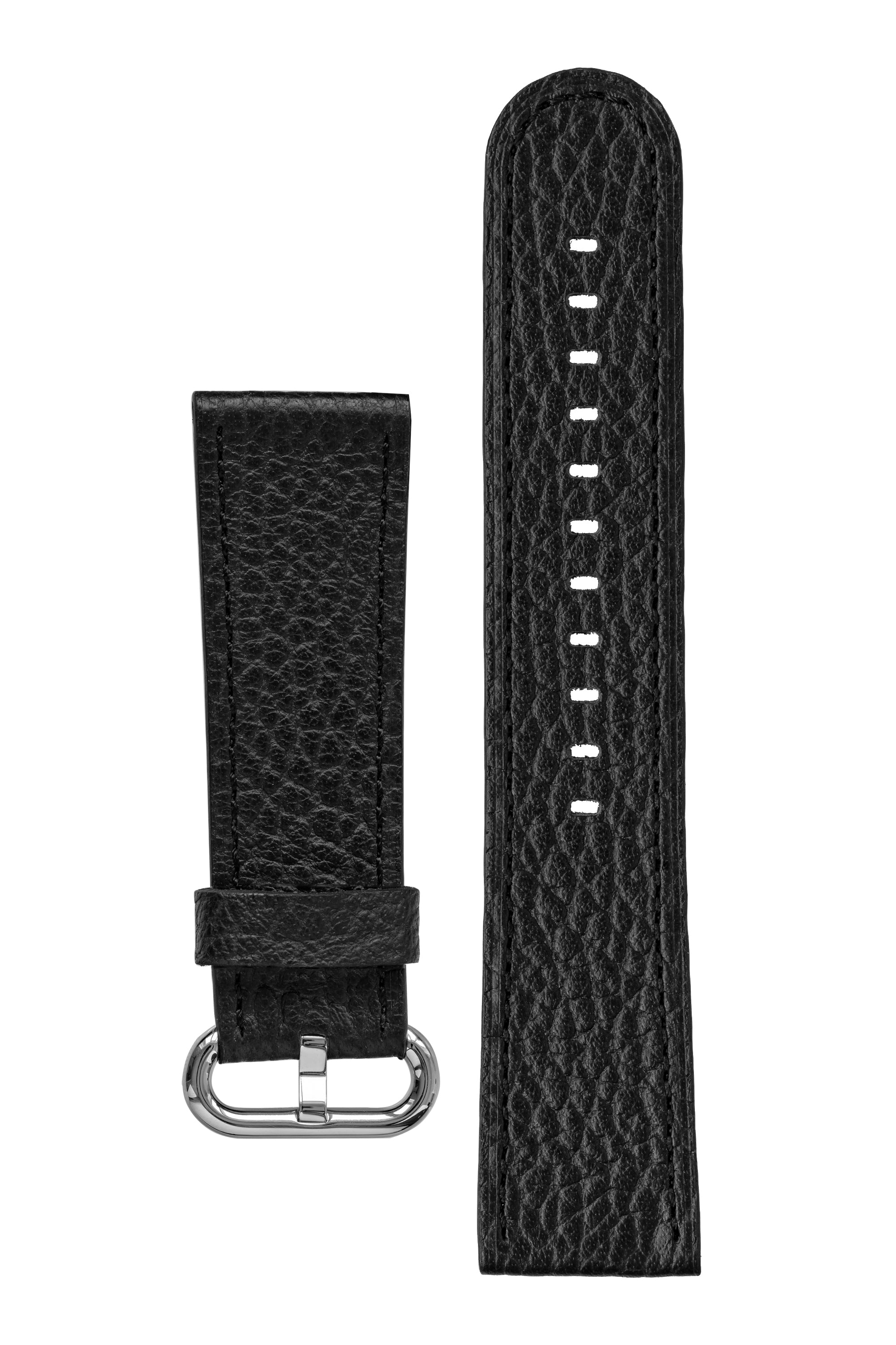 Rios1931 CONNECT Buffalo Leather Watch Strap for 42 / 44mm Apple Watch in BLACK