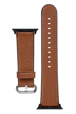 Rios1931 CONNECT Buffalo Leather Watch Strap for 42 / 44mm Apple Watch in COGNAC