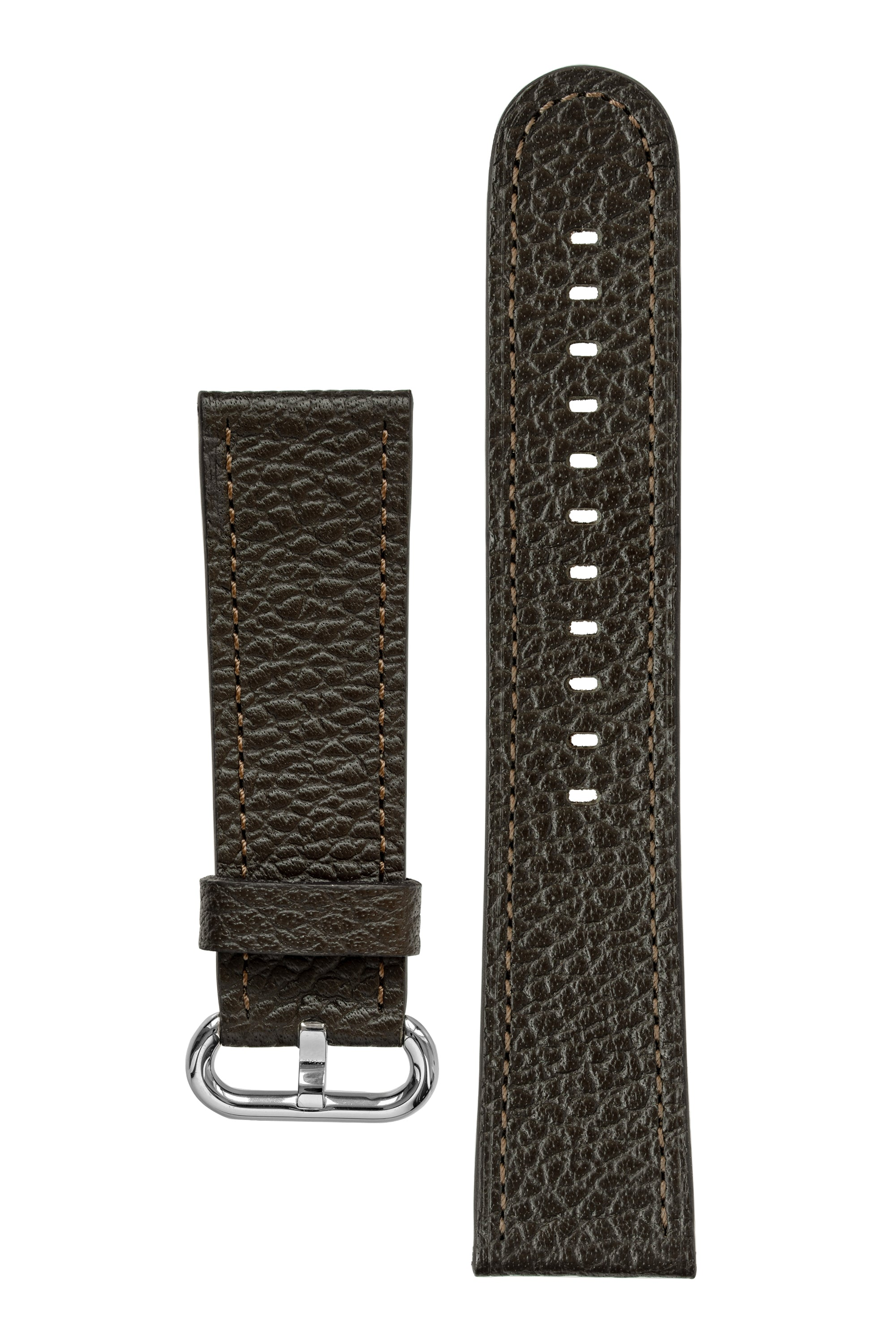 Rios1931 CONNECT Buffalo Leather Watch Strap for 42 / 44mm Apple Watch in MOCHA