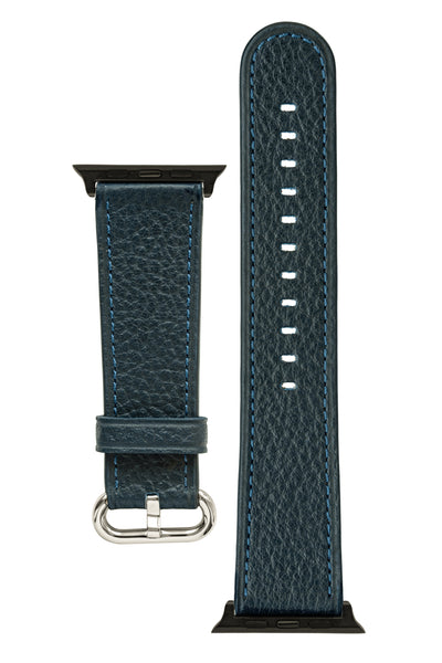 Rios1931 CONNECT Buffalo Leather Watch Strap for 42 / 44mm Apple Watch in OCEAN BLUE